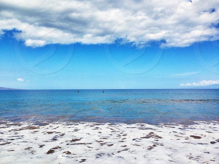 white sand on shore photo