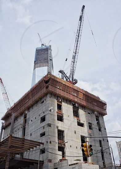 Construction work on a new building photo