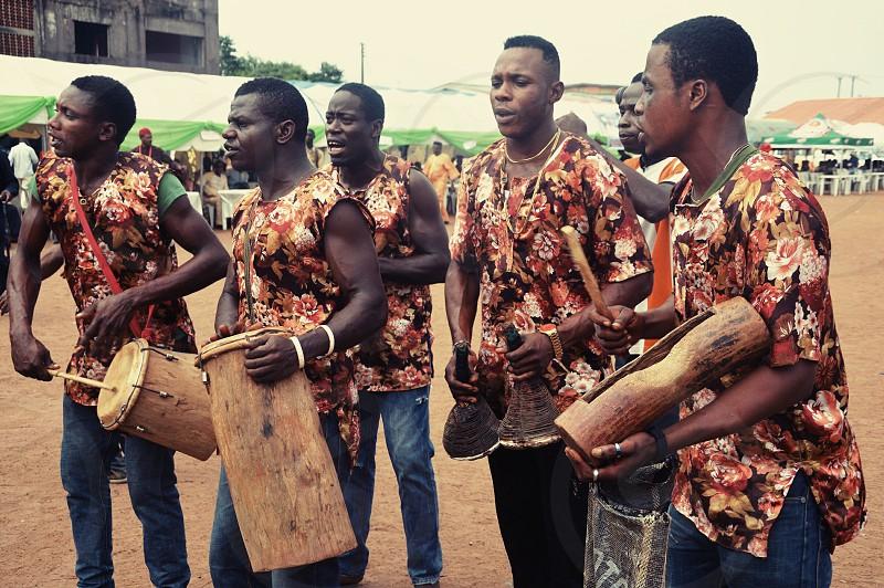 Dance Singing Men Drums People photo
