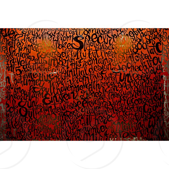 Wall art Street Art Graffiti Orange Mirror  photo