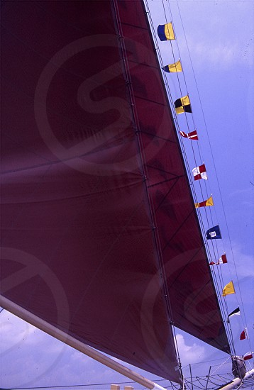 Signal flags and sails photo
