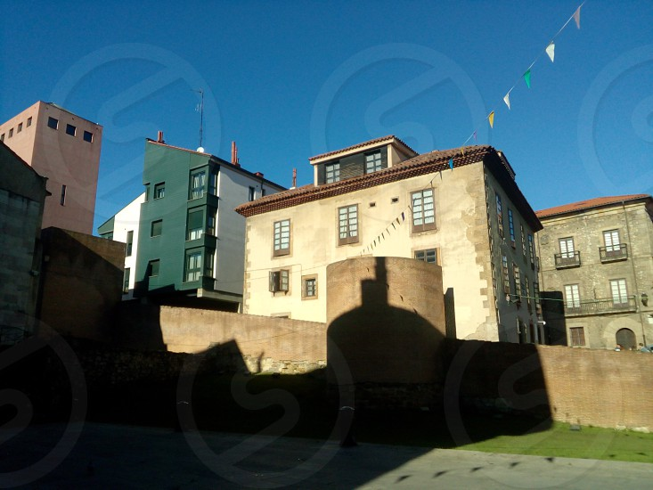 Buildings in Gijón Asturias December 2016. photo