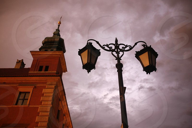 the Zamkowy Square in the City of Warsaw in Poland East Europe. photo