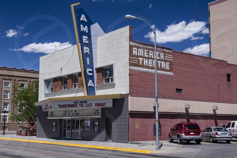 America Theatre Cinema house movie Casper Wyoming USA  photo