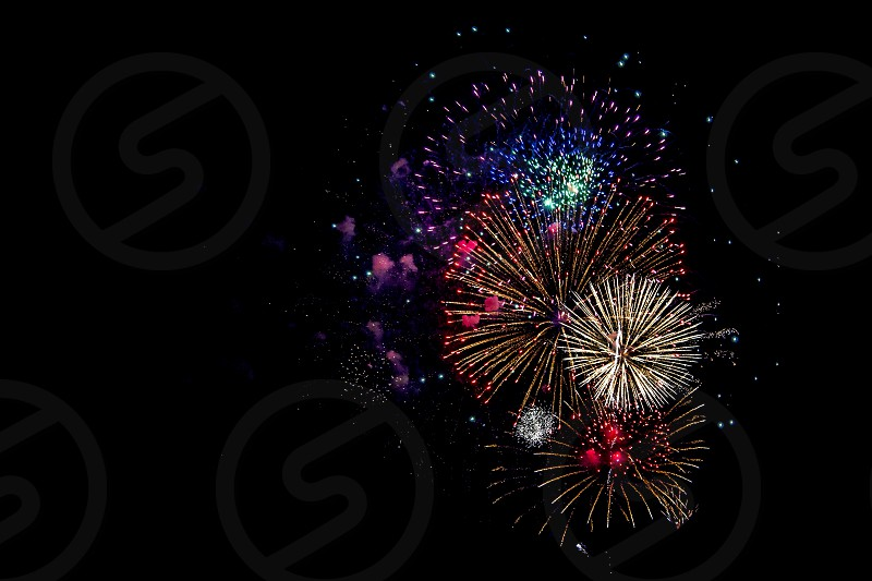 fireworks display photograph photo