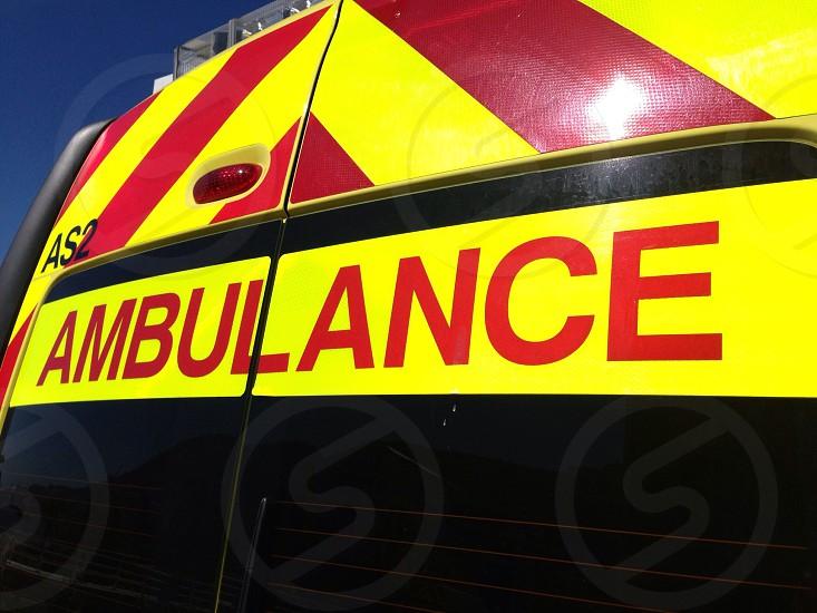 Rear of ambulance photo