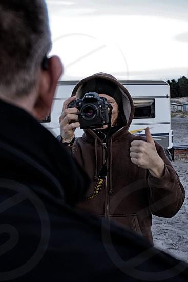 brown sweatshirt zip up hoodie photo