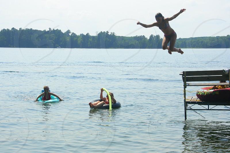 lake Minnesota swimming photo
