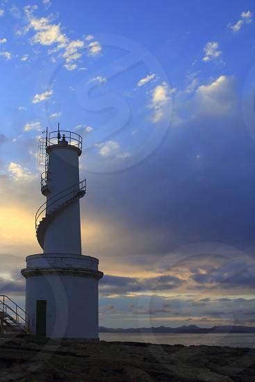 La Savina port lighthouse Formentera sunset balearic islands photo