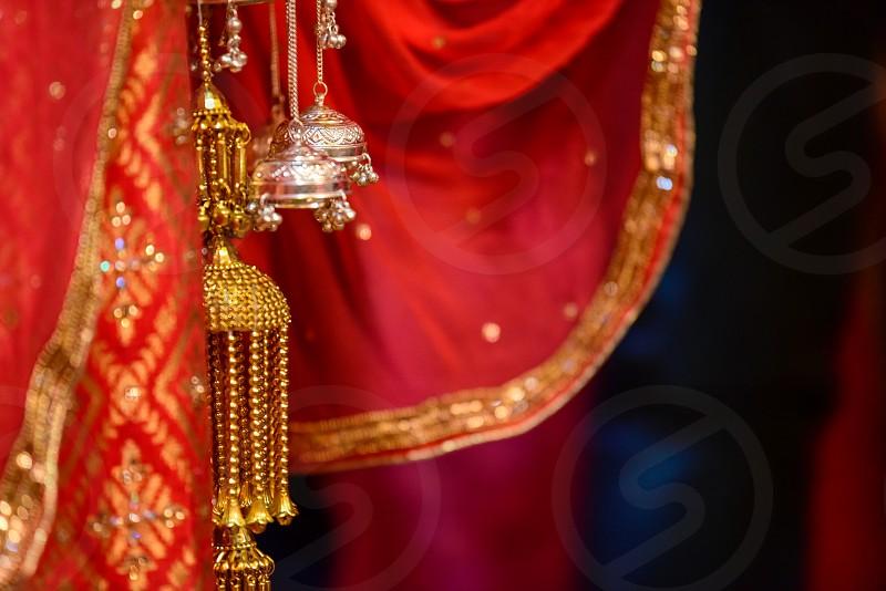 Wedding knot in hindu wedding photo