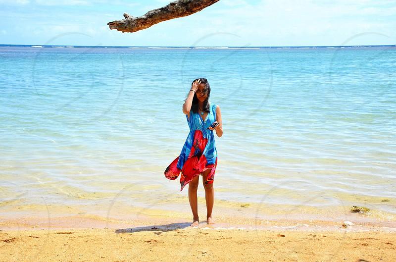 Me Kauai beach vacation travel traveling Hawaii clear water water photo