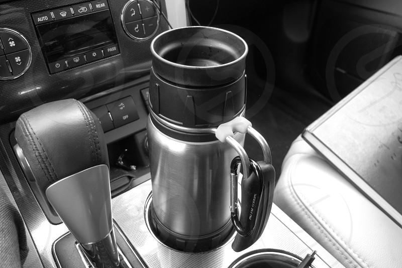 CoffeeDrivingThermosDrinkHot photo
