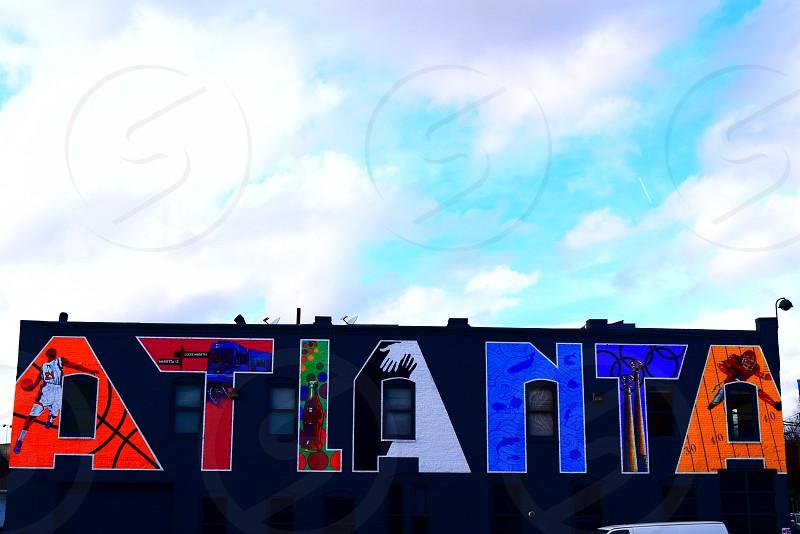 Atlanta; Georgia; downtown; street art; vibrant; community  photo