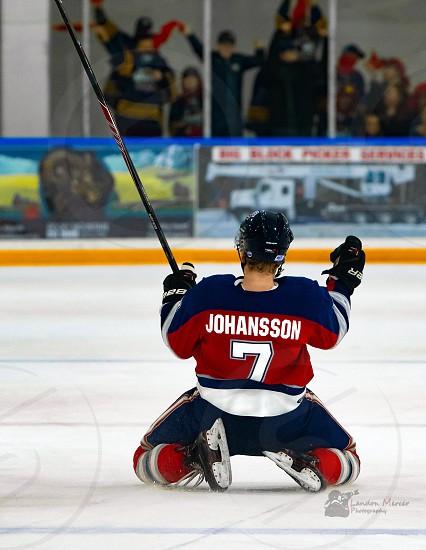 Hockey junior hockey celebration  photo