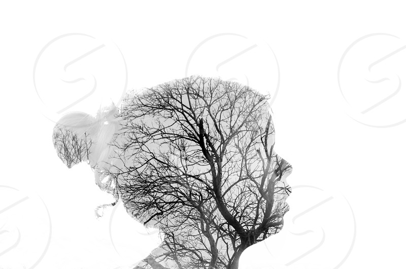 Double Exposure Silhouette  photo