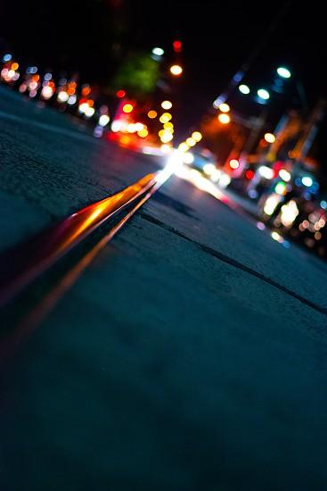 Train track in Melbourne CBD. photo