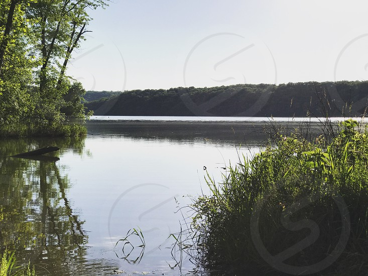Lake of the ozarks Missouri lake landscape water trees sky grass state park laceybeth  photo