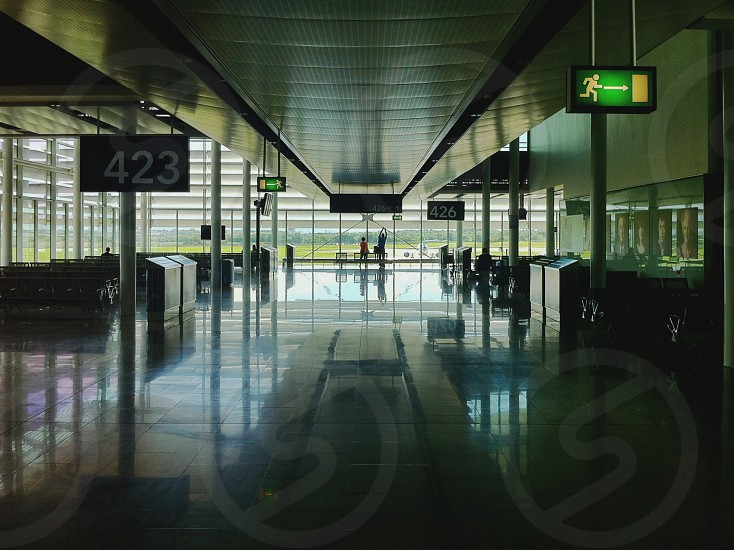 airport gate number 423 photo