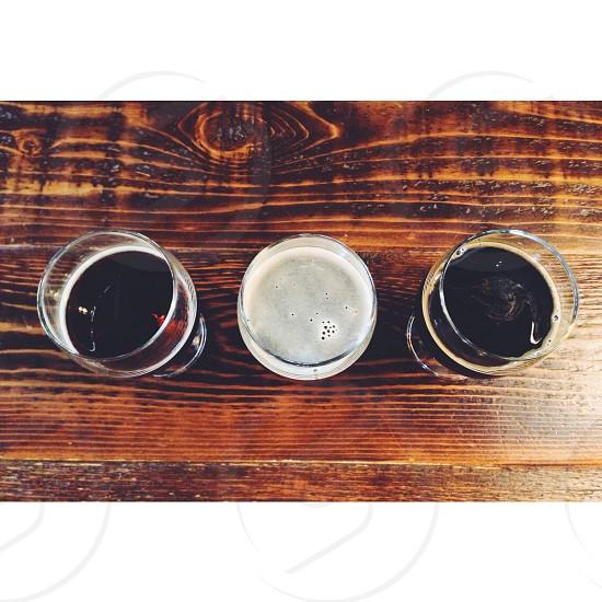 three glasses photo