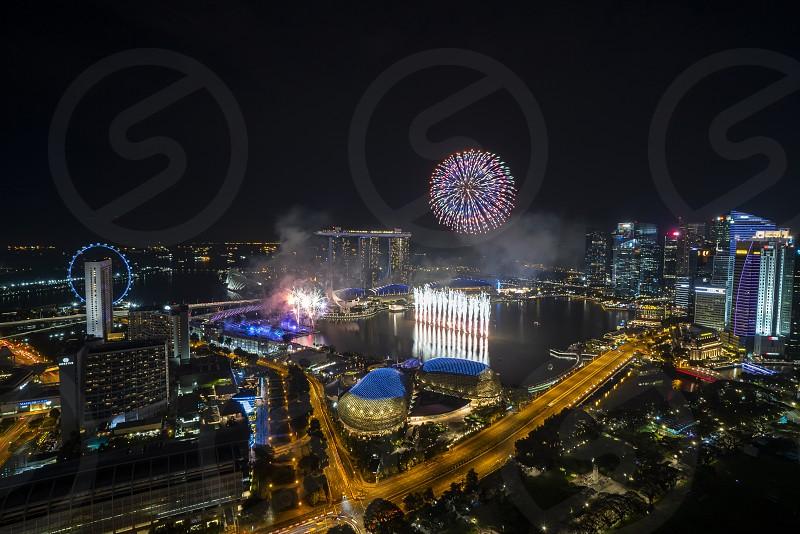 Singapore new year eve fireworks photo