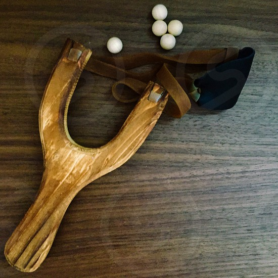 brown wooden sling shot photo