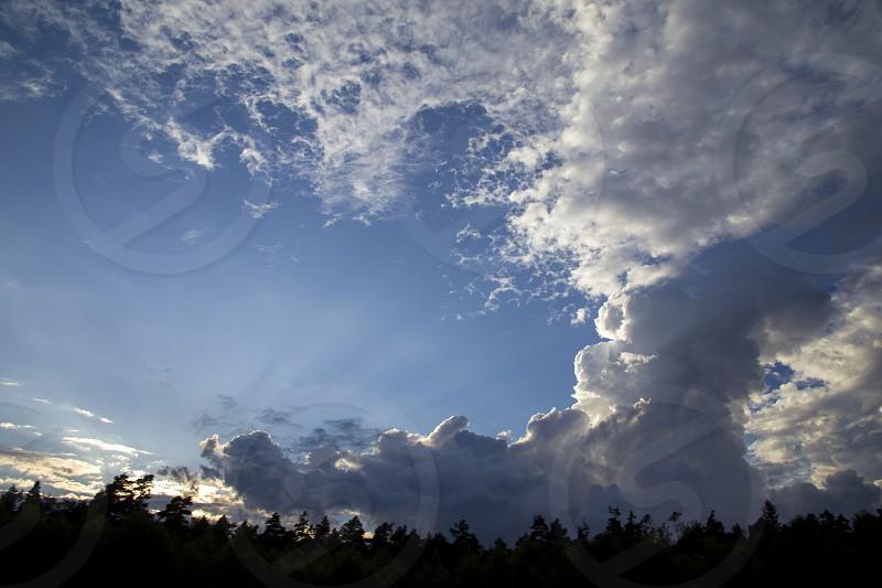 A great beautiful cloud similar to an atomic explosion. photo