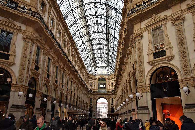 "View through the luxurious shopping center ""Vittorio Emanuele II"" in Milan / Italy photo"