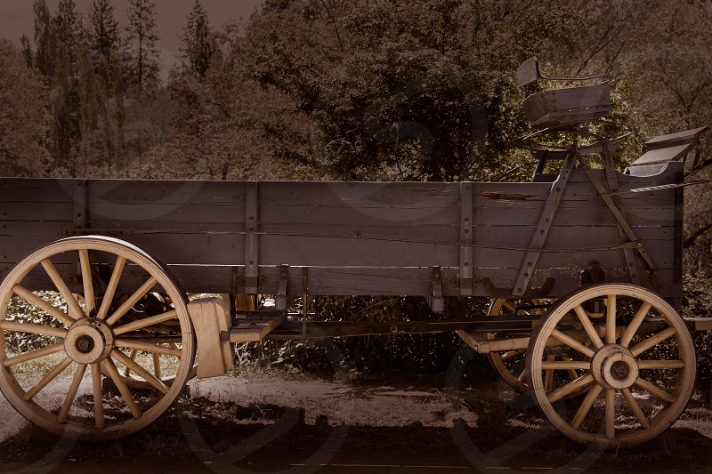 California Columbia carriage in a real old Western Gold Rush Town in USA photo