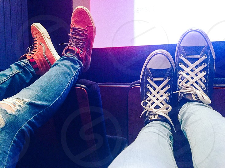 Movie cinema shoes shoe laces legs date photo