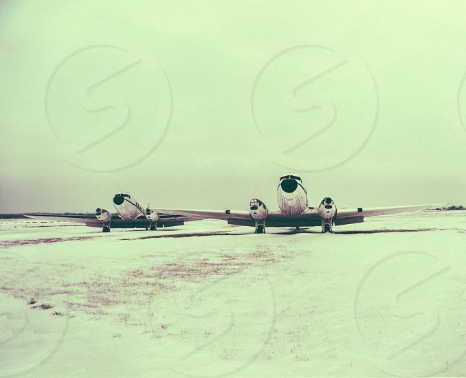 white fighter plane photo