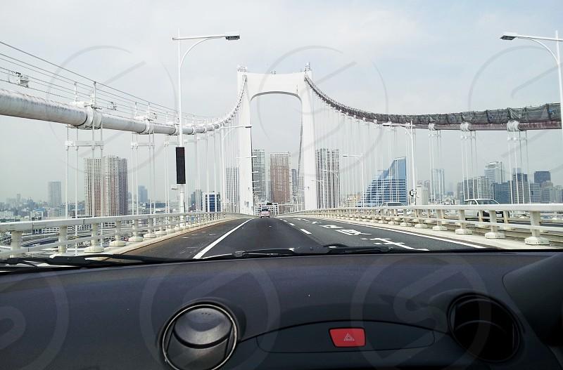 Rainbow bridge in Japan  photo