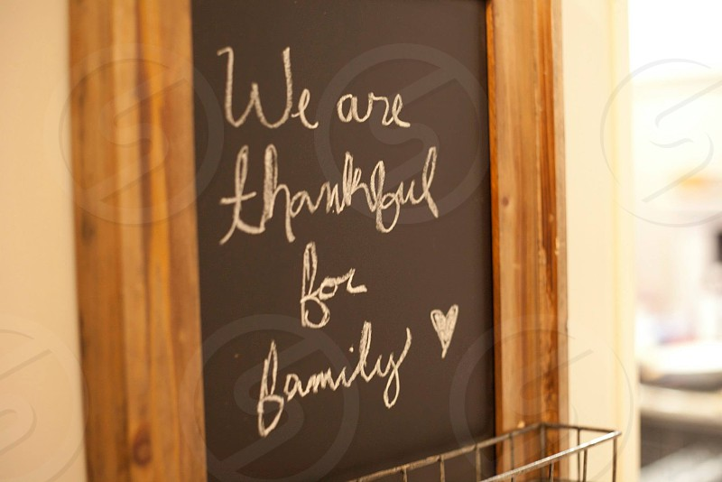 we are thankful for family print photo