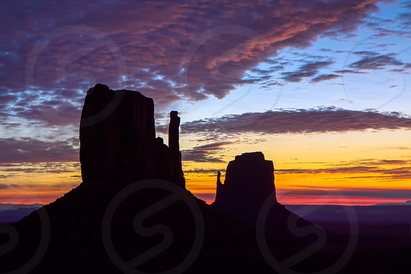 View of the Mittens in Monument Valley photo