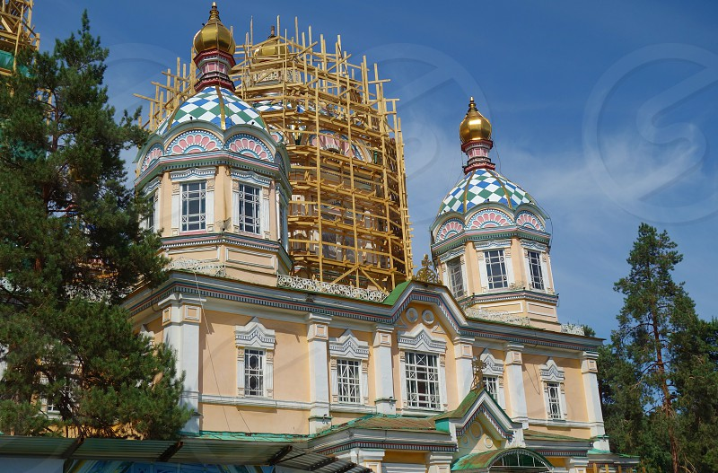 The Ascension Cathedral in Almaty Kazakhstan photo