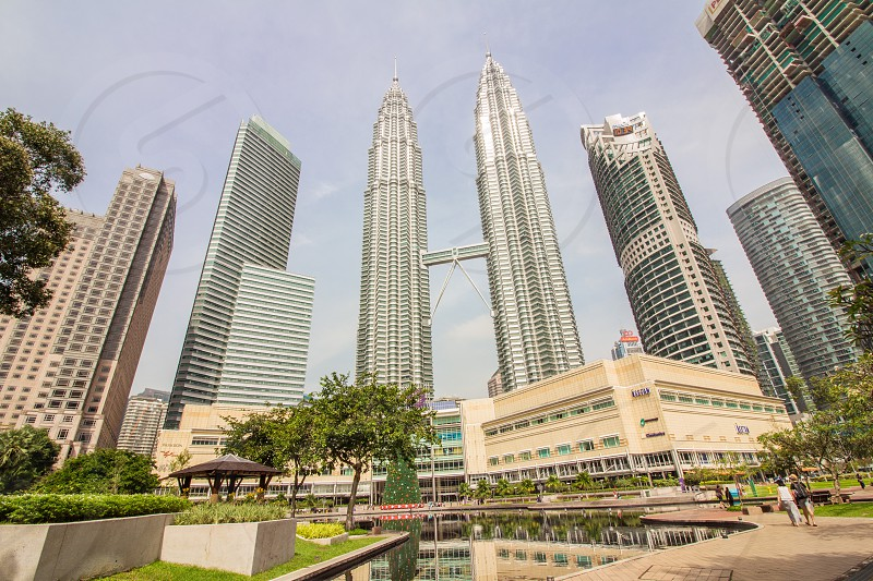 petronas twin towers or known as klcc by the locals photo