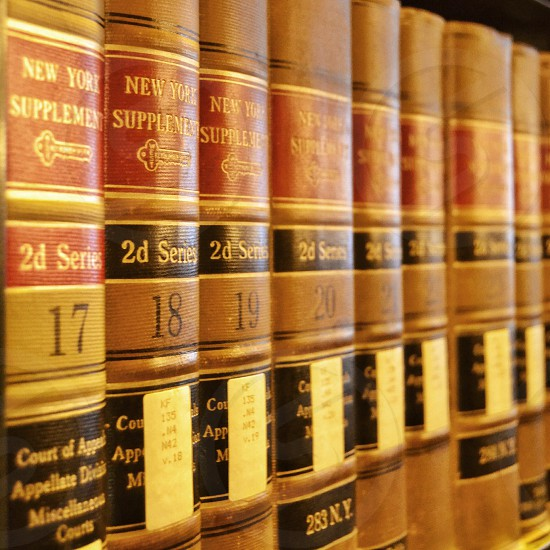Books in The old Chicago Law Library located at 190 S Lasalle St  photo