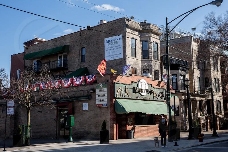 The Wrigleyville neighborhood of Chicago IL photo