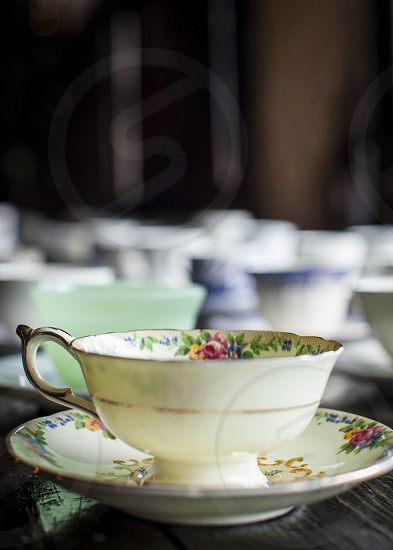 breakfast tea cup with room for type photo