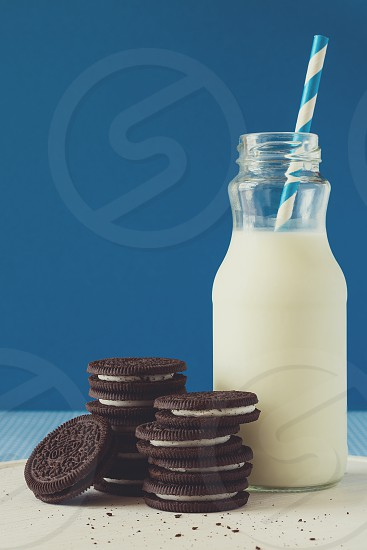 cookies with milk photo