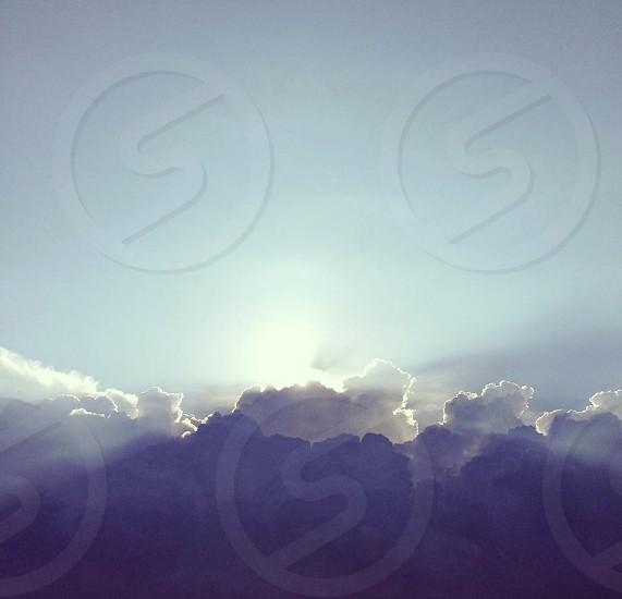Clouds sky heaven sunlight sun beams photo