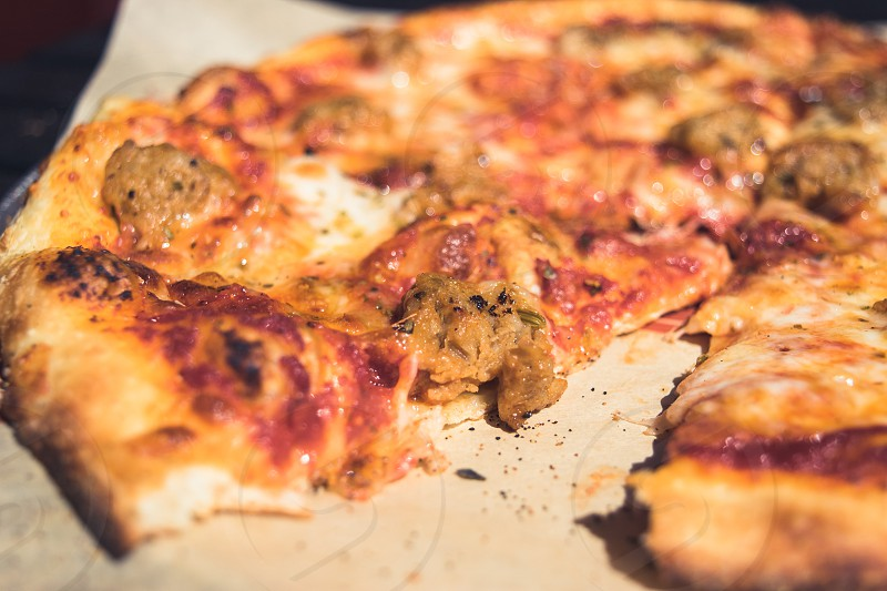 selective focus photography of pizza photo