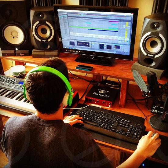 My partner at work on project Cruzko #cruzko soundcloud.com/cruzkomusic photo