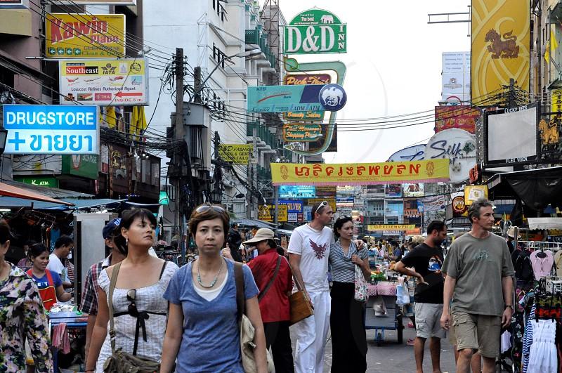 Kao San Rd Bangkok in the morning.  photo