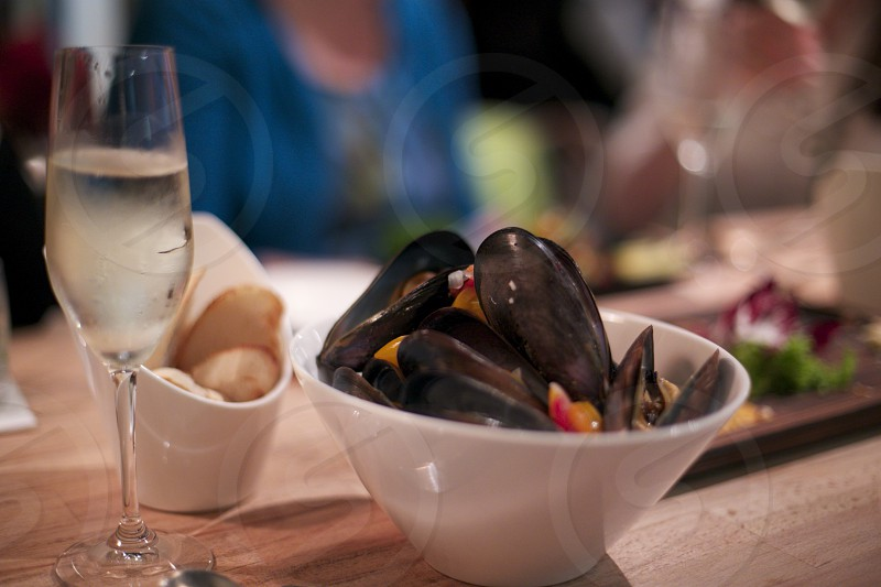 Mussels and Champagne for the ordinary nights. photo