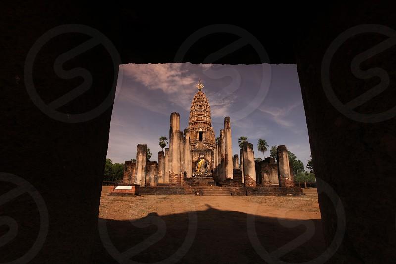 the Wat Phra Si Ratana Mahathat at the Si Satchanalai-Chaliang Historical Park in the Provinz Sukhothai in the north of Bangkok in Thailand Southeastasia. photo