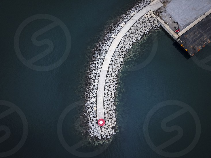 View from the top of the marina of Imperia photographed from above with a drone photo