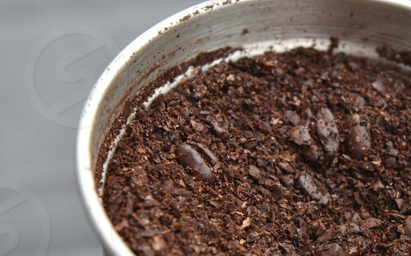 Ground coffee coffee beans grinder photo