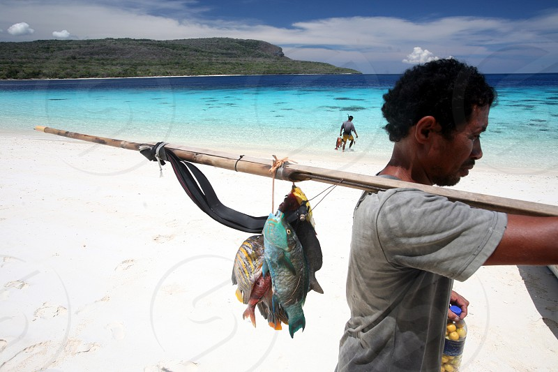 the dreambeach at the Jaco Island at the town of Tutuala in the east of East Timor in southeastasia. photo