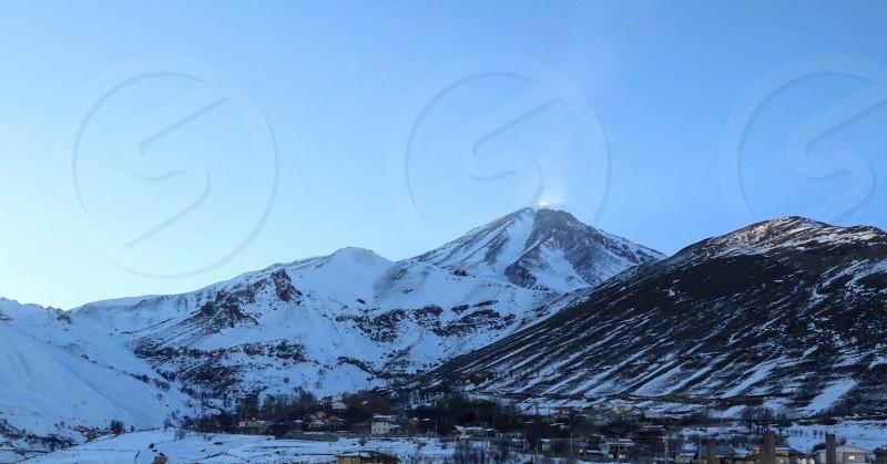 Larijan village in Iran. photo