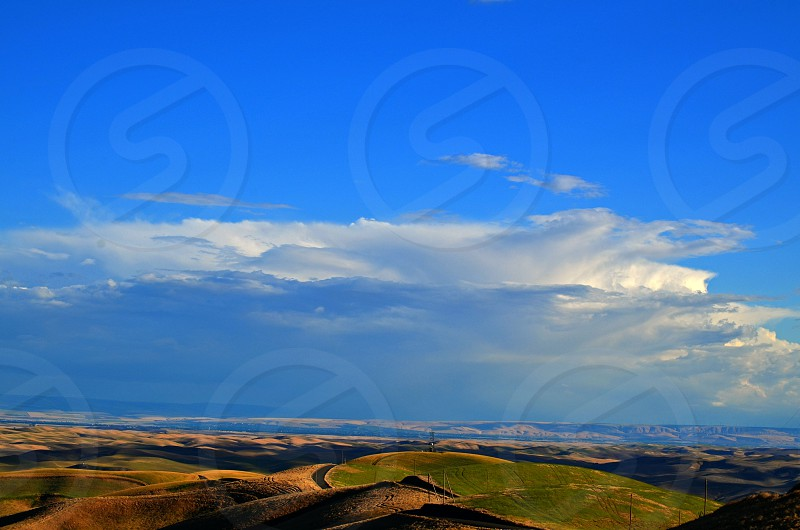A Storm is brewing over the wheat fields photo